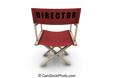 Directors chair - 3D render of a directors chair on a white...