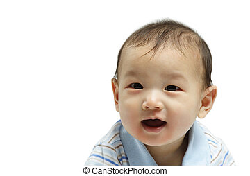 Baby boy - A happy cute little baby boy isolated