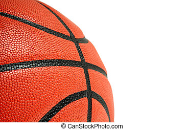 Basketball - An isolated closeup shot of a basketball (room...