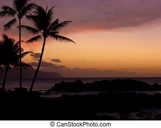Hawaii Sunset - Oahu, Hawaii Sunset