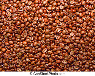 Coffee background - Fresh roasted brown aromatic coffee...