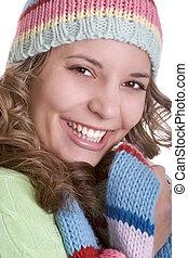 mosolygós, nő
