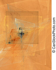 Abstract cubist desi - Cubism; a computer generated fractal...