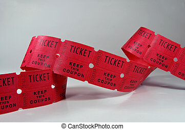 Ticket Stubs - Photo of unraveled ticket stubs.