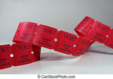 Ticket Stubs - Photo of unraveled ticket stubs.