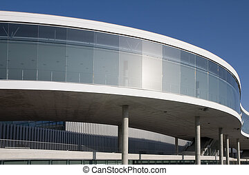 Modern building - A modern building in Barcelona, Catalonia,...