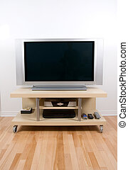 Plasma screen - big tv lcd plasma screen in modern living...