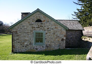 Well house - Small old stone well house in Eastern...
