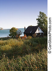 lake side house - Lake front single house -Scenic view of...