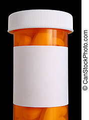 Medicine bottle with pills - Medication bottle with clipping...