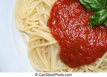 Quattro Colore - Typical italian pasta, spaghetti with...