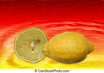 Stock image of Lemon Juice Background