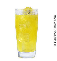Glass of orange - A glass of orange juice isolated with...