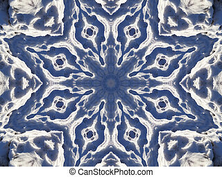 Stock image of Winter Kaleidoscope - Unusual background with...