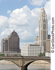 Downtown Columbus - Summer day in downtown Columbus, Ohio...