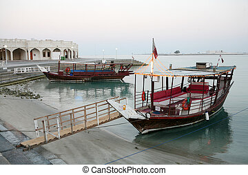 Dhows at dusk