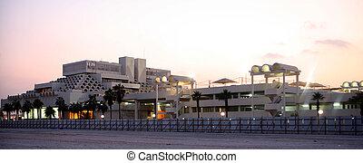 Doha Post Office at dusk