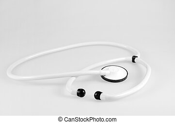 stethoscope - white stethoscope on white