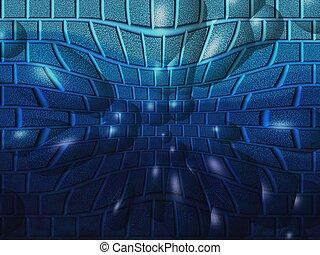Blue Bubbles - Blue abstract bubbles.