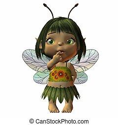 Toon Baby Fairy - 3D Render