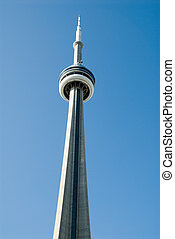 Toronto CN Tower - CN Tower in Toronto, Canada, the highest...