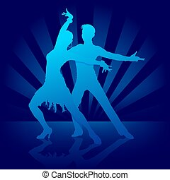 Dance Rumba - illustration, silhouettes