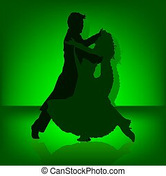 Dance Tango - illustration, silhouettes