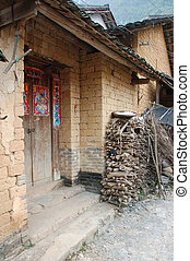 Front door  of a house in China
