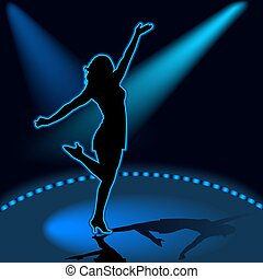 Dancing Girl 06 - illustration, silhouette