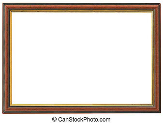 XXL size wooden frame isolated on white
