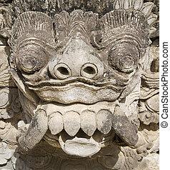 Balinese carving 4 - Balinese barong carving