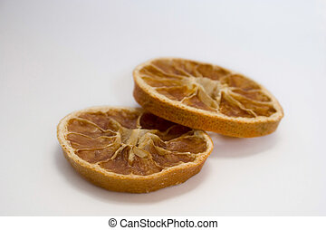Slices - isolated photo of the dried slices of orange