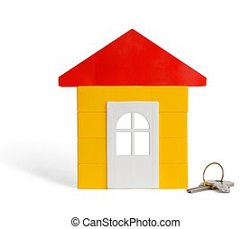 Toy House - Isolated house and keys