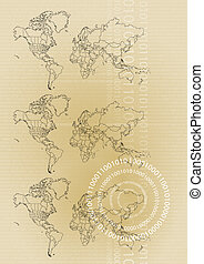 business information brown - An abstract background with the...