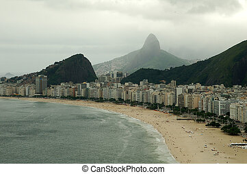 Copacabana at a summer cloudy day
