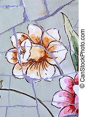 Ceramic Tile - Macro image of ceramic tiles and grout...