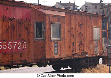Caboose - An old caboose on the side rail