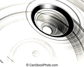 Vortex, background - 3D illustration, background of a vortex...