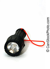 Torch Light - A flourascent torch light against a white...