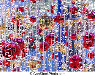 Celebratory Christmas ornament with spheres and...