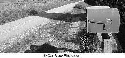 Waiting for mail - Rural postbox