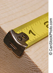 tape measure - measuring tape lined up ready to measure...