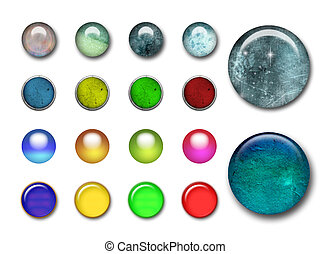 3d buttons - Big collections of 3d color web buttons