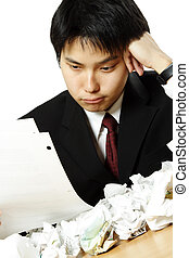 Stressed businessman - A stressed out businessman with...