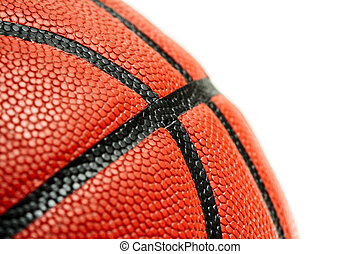 Basketball - An isolated close up shot of a basketball (room...