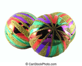 multi-coloured - Three multi-coloured christmas spheres