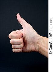 Thumbs Up - Hand in a thumbs up sign