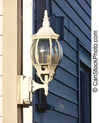 Backyard light 501 - A backyard light fixture on the corner...