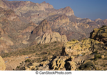 Modern use of Apache Trail in Fish Creek Canyon; Arizona in...