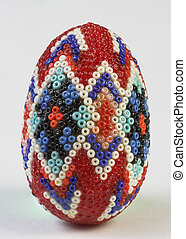 decorated easter egg - Decorated and isolated easter egg...